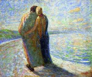 Emile Nolde - Couple on the beach