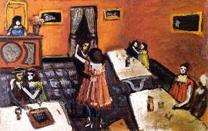 Auguste Chabaud - Couples in a Bistro