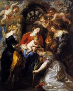 Peter Paul Rubens - The Crowning of St. Catherine