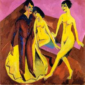 Ernst Ludwig Kirchner - Dancing School (also know..