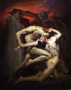 William Adolphe Bouguereau - Dante and Virgil in Hell