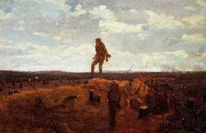 Winslow Homer - Defiance (also known as Inviting a Shot before Petersburg)