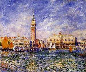 Pierre-Auguste Renoir - The Doges- Palace, Venice