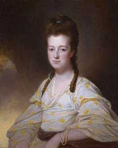 George Romney - Dorothy Cavendish, wife o..