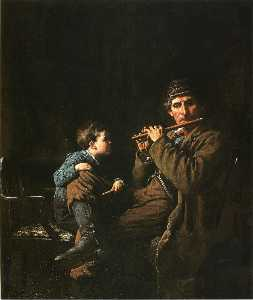 Jonathan Eastman Johnson - The Earnest Pupil (also known as The Fifers)