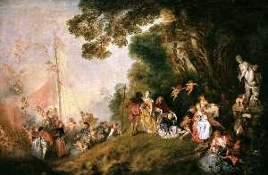 Jean Antoine Watteau - Embarkation for Cythera