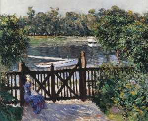 Gustave Caillebotte - Entrance to the garden at Petit Gennevilliers