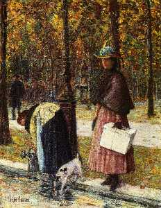 Frederick Childe Hassam - Evening, Champs-Elysees (..