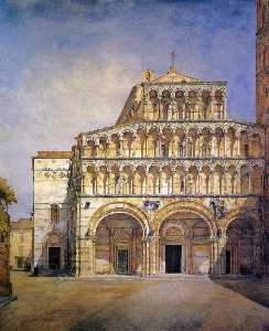 Henry Roderick Newman - The Facade of the Duomo at Lucca