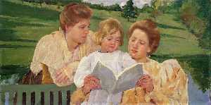 Mary Stevenson Cassatt - Family Group Reading