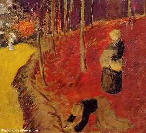 Paul Serusier - The Fern Harvesters in th..