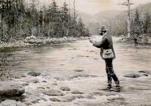 Arthur Burdett Frost - Fly Fishing