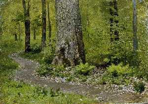 Isaak Ilyich Levitan - Footpath in a Forest, Fer..