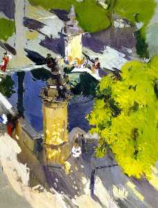 Joaquin Sorolla Y Bastida - Fountain of the Mosque, C..