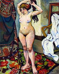 Suzanne Valadon - Gilbert, Nude Fixing Her ..