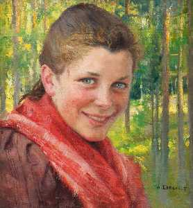 Albert Edelfelt - Girl from Porvoo