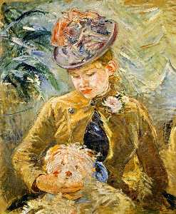 Berthe Morisot - Girl with a Dog