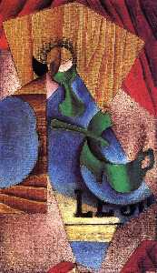 Juan Gris - Glass, Cup and Newspaper