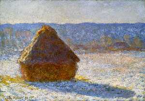 Claude Monet - Grainstack in the Morning, Snow Effect