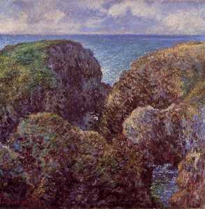 Claude Monet - Group of Rocks at Port-Goulphar