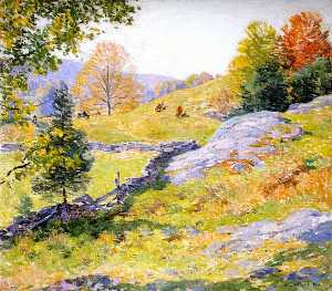 Willard Leroy Metcalf - Hillside Pastures