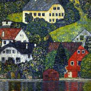 Gustav Klimt - Houses at Unterach on the Attersee