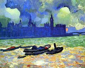 André Derain - Houses of Parliament at Night, London