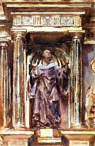 John Singer Sargent - In a Church at Granada