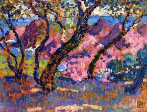 Theo Van Rysselberghe - In the Shade of the Pines (stu..