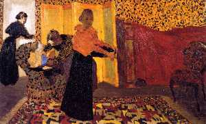 Jean Edouard Vuillard - Interior with Red Bed (also known as The Bridal Chamber)