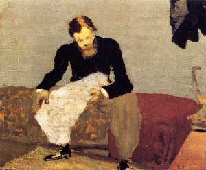 Jean Edouard Vuillard - Ker-Xavier Roussel Reading the Newspaper