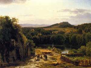 Thomas Worthington Whittredge - Landscape in the Harz Mountains