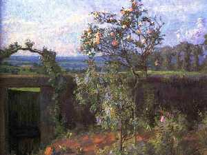 Gustave Caillebotte - Landscape near Yerres (also known as View of the Yerres Valley and the Garden of the Artist-s Family Property)