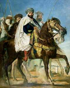 Théodore Chassériau - Le Calife de Constantine Ali Ben Ahmed (also known as The Caliph of Constantine Ali-Hamed Followed by his Escort)