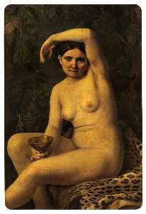 Alexey Venetsianov - Bather with a Bowl