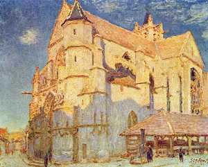 Alfred Sisley - Church of Moret