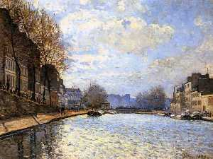 Alfred Sisley - The Saint Martin Canal in Paris