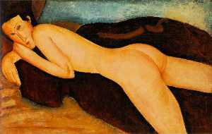 Amedeo Modigliani - Reclining nude from the B..