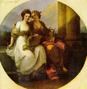 Angelica Kauffman (Maria Anna Angelika) - Allegory of poetry and music