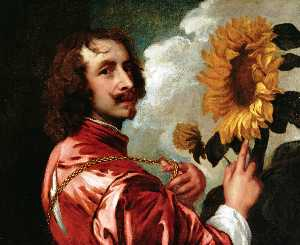 Anthony Van Dyck - Self portrait with a Sunf..