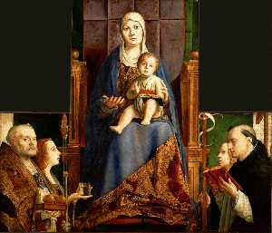 Antonello Di Giovanni Di Antonio (Antonello Da Messina) - San Cassiano Altarpiece