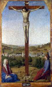 Antonello Di Giovanni Di Antonio (Antonello Da Messina) - Crucifixion