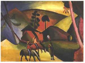August Macke - Native Aericans on horses