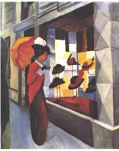 August Macke - The Hat Shop