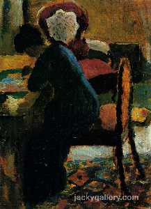August Macke - Elisabeth at the Table