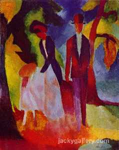 August Macke - People at the blue lake