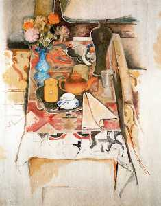 Balthus (Balthasar Klossowski) - Still Life with Lamp