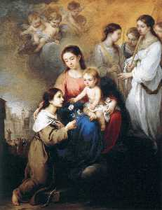 Bartolome Esteban Murillo - The Virgin and Child with..