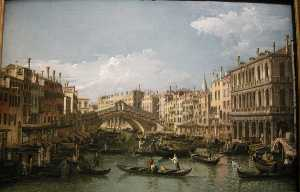 Bernardo Bellotto - Grand canal, view from no..