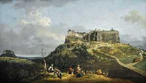 Bernardo Bellotto - The Fortress of Konigstei..